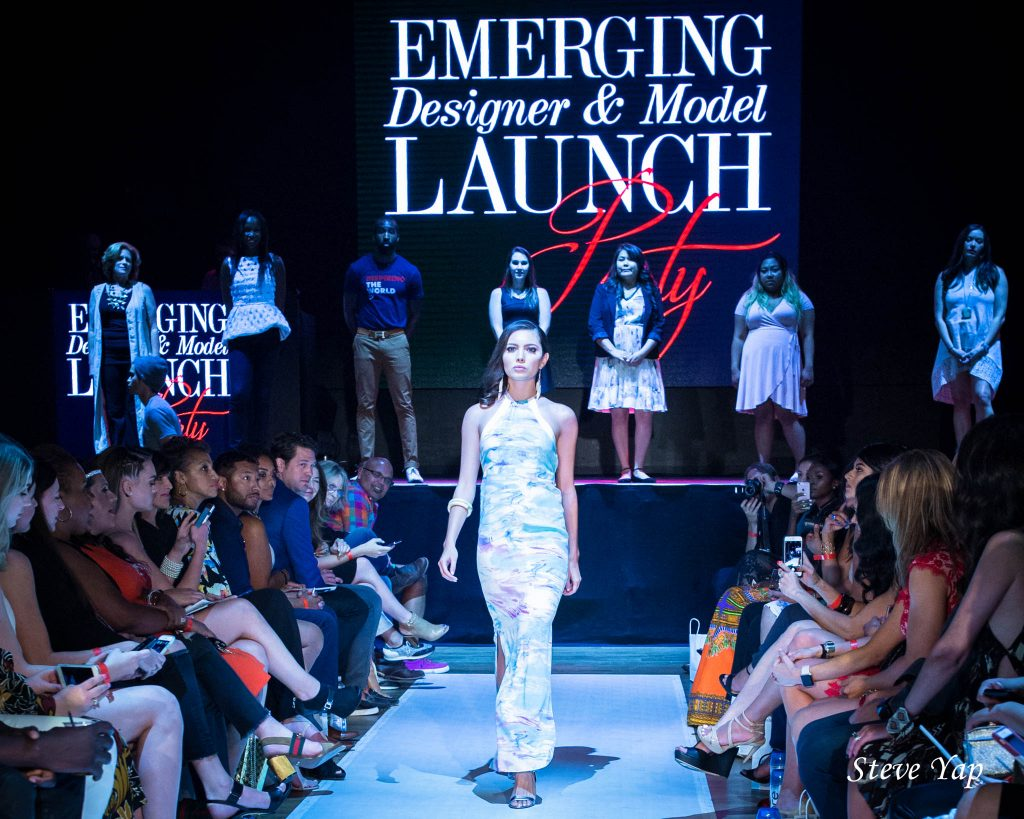 Miss Arizona wears Isy B on the catwalk at PHXFW launch. Photo Courtesy of Steve Yap